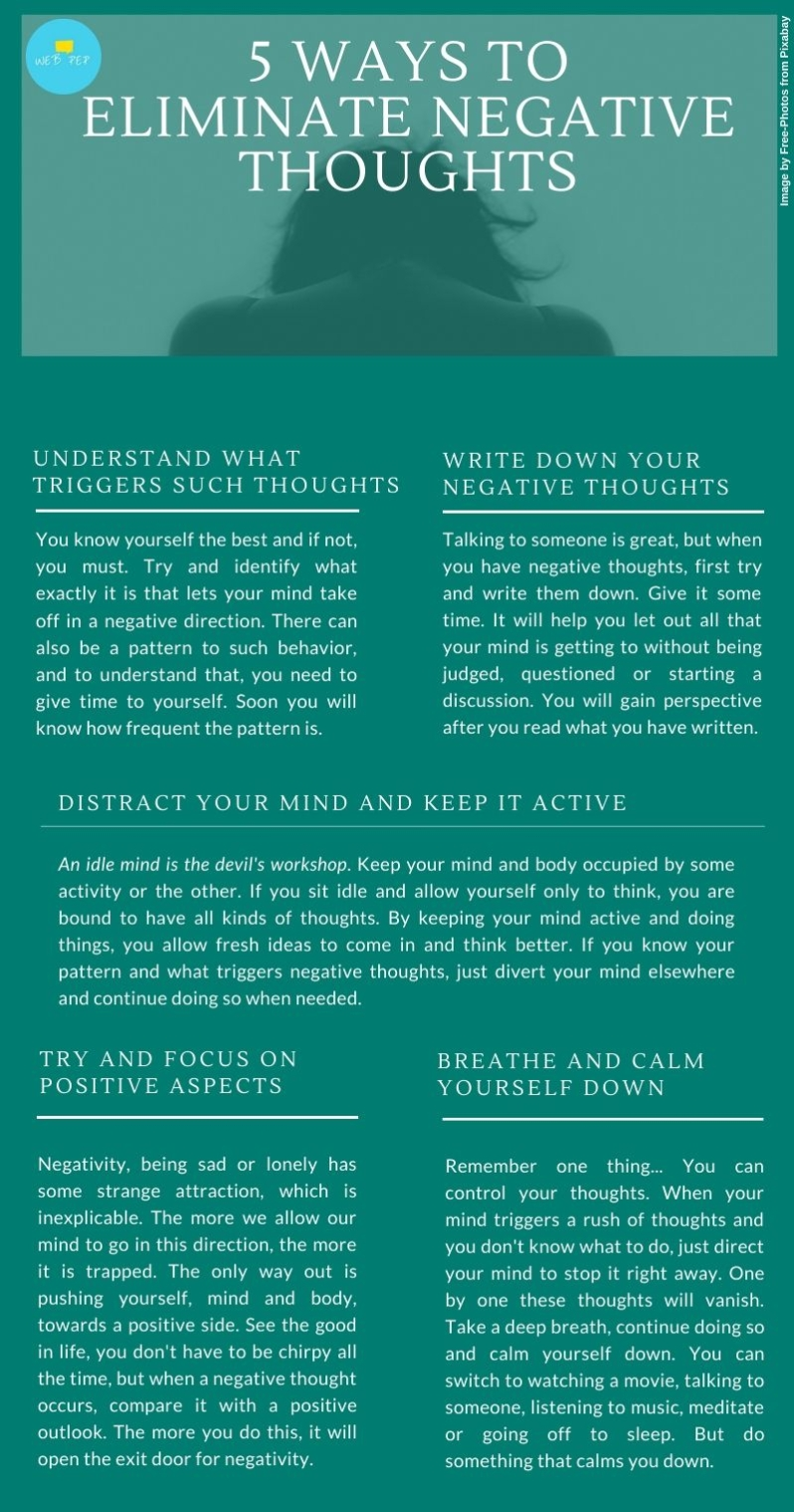 5 Ways To Eliminate Negative Thoughts